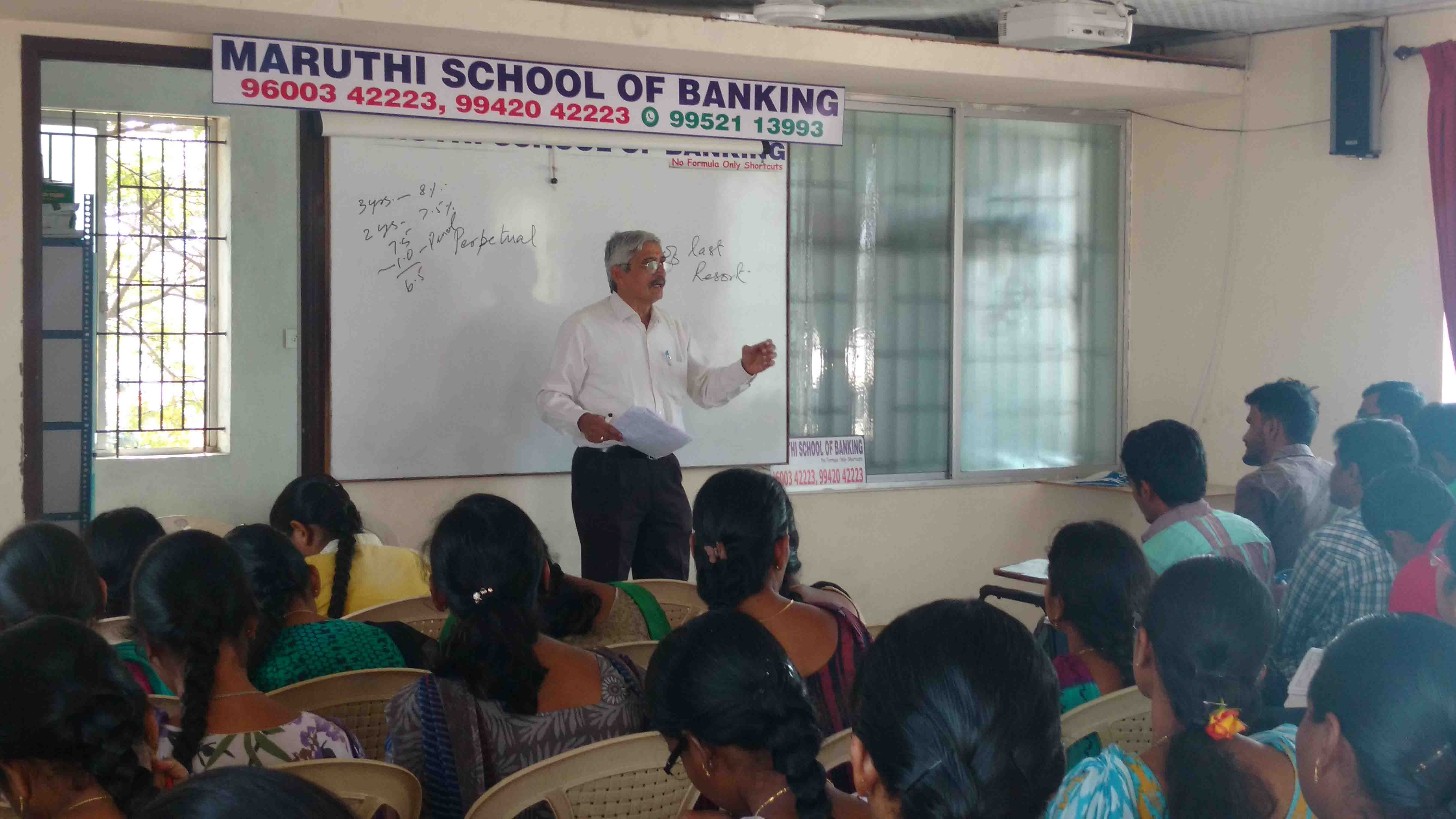 Banking Class Taken by Retd Bankers